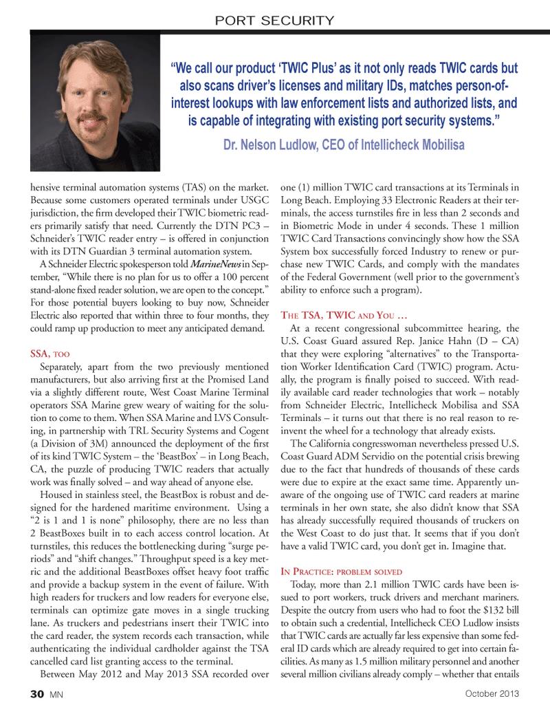 Marine News Magazine, page 30,  Oct 2013
