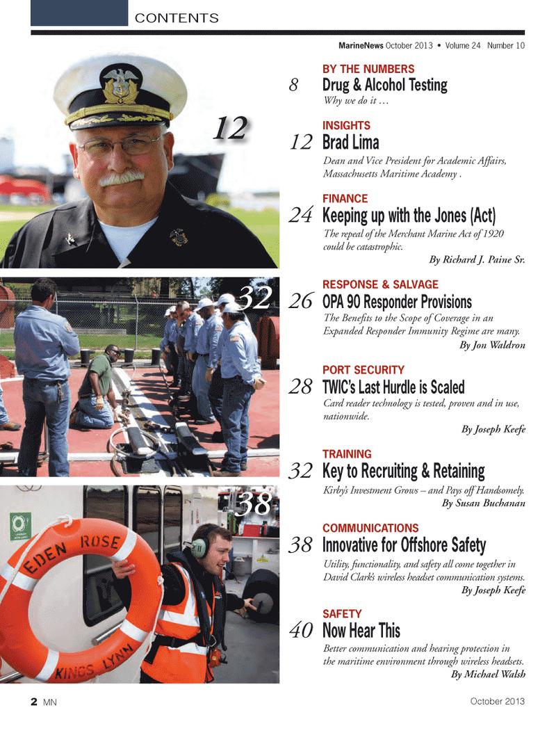 Marine News Magazine, page 2,  Oct 2013 Michael Walsh