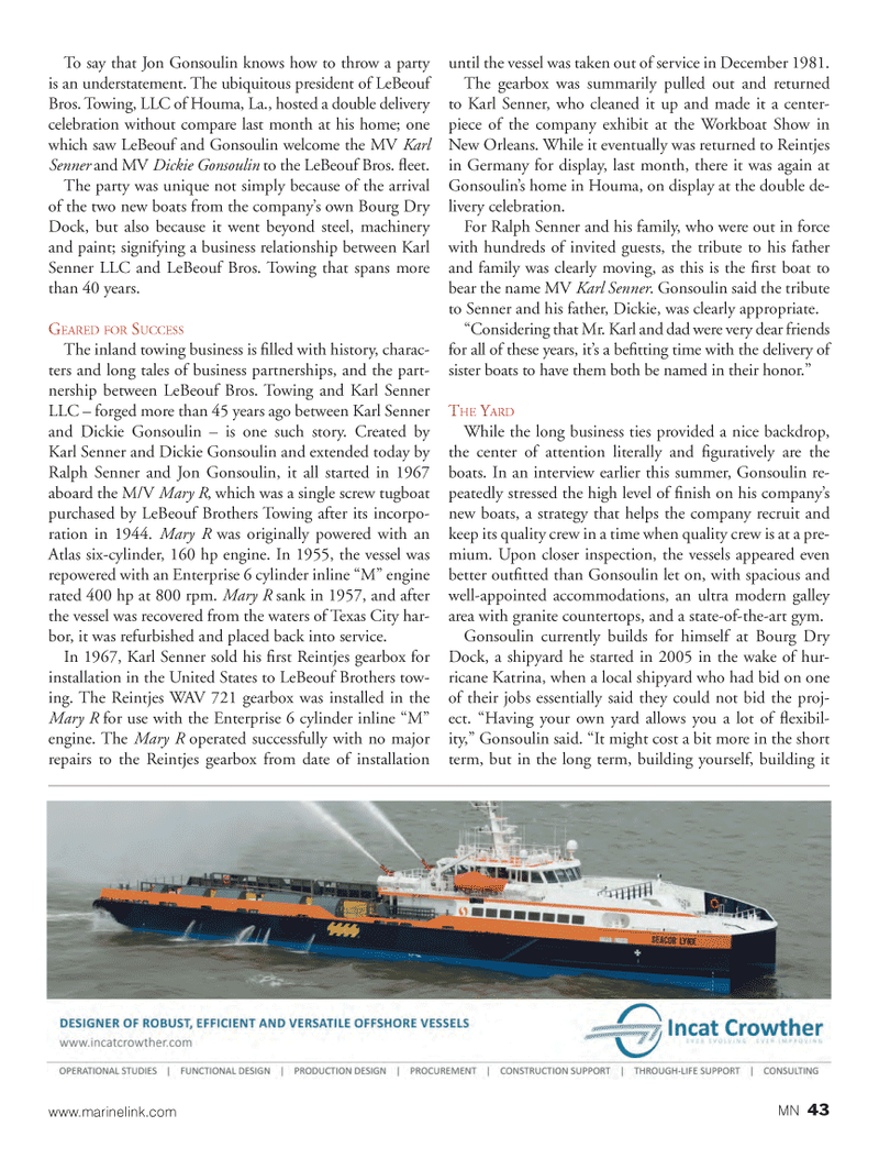 Marine News Magazine, page 43,  Oct 2013 machinery