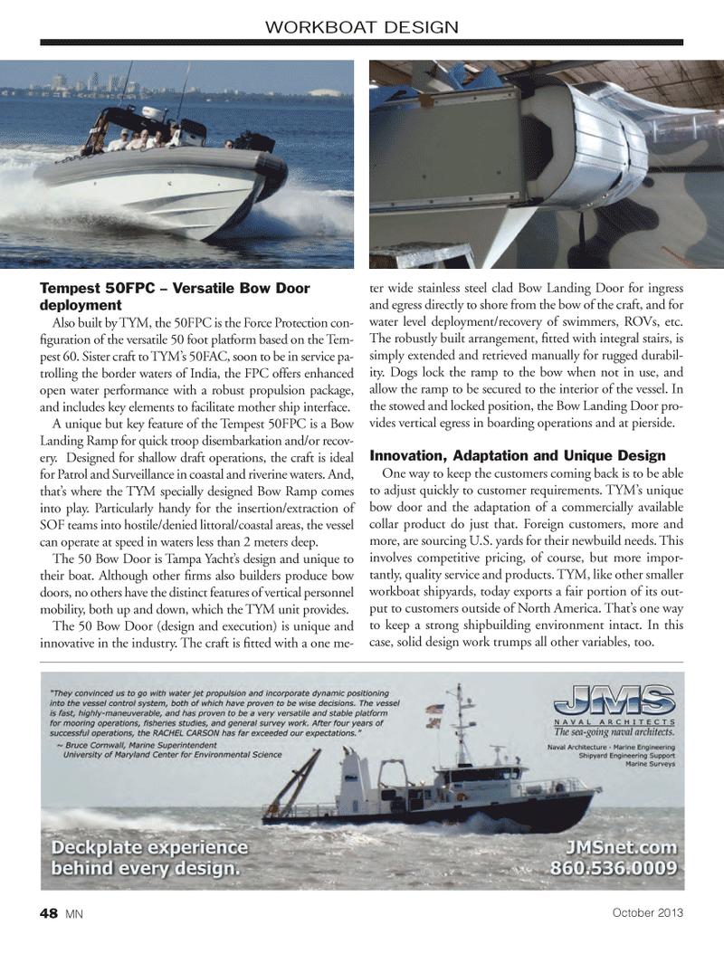 Marine News Magazine, page 48,  Oct 2013 collar product