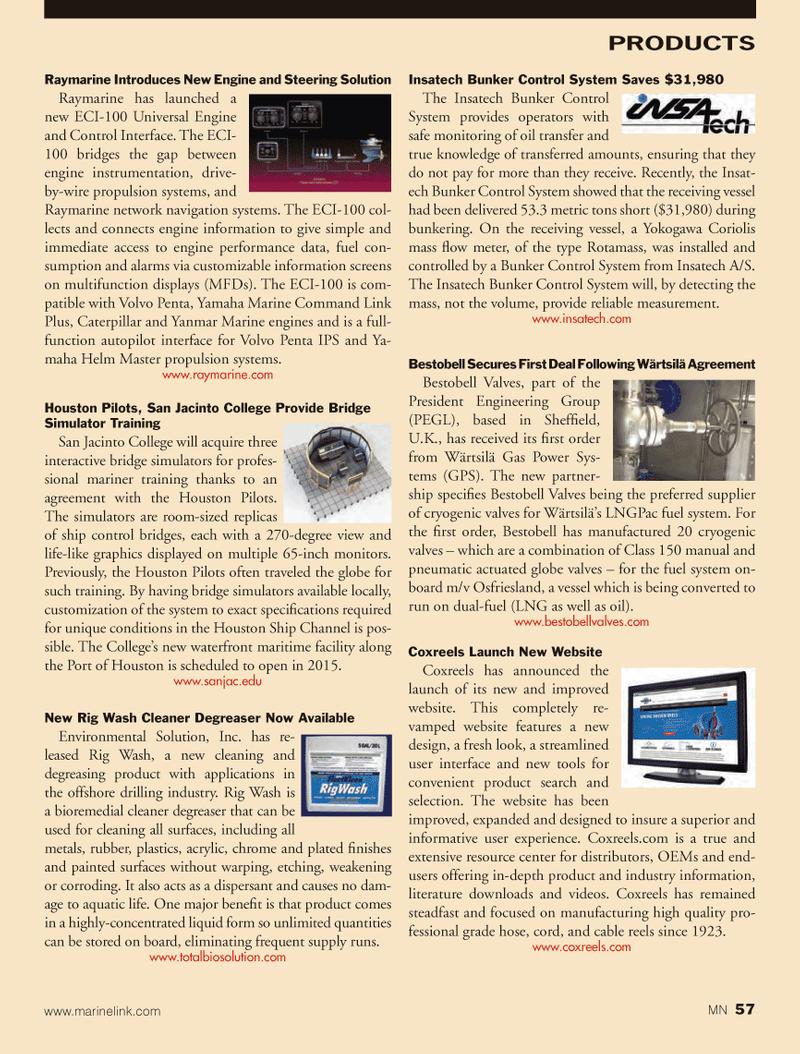 Marine News Magazine, page 57,  Oct 2013 Houston Ship Channel