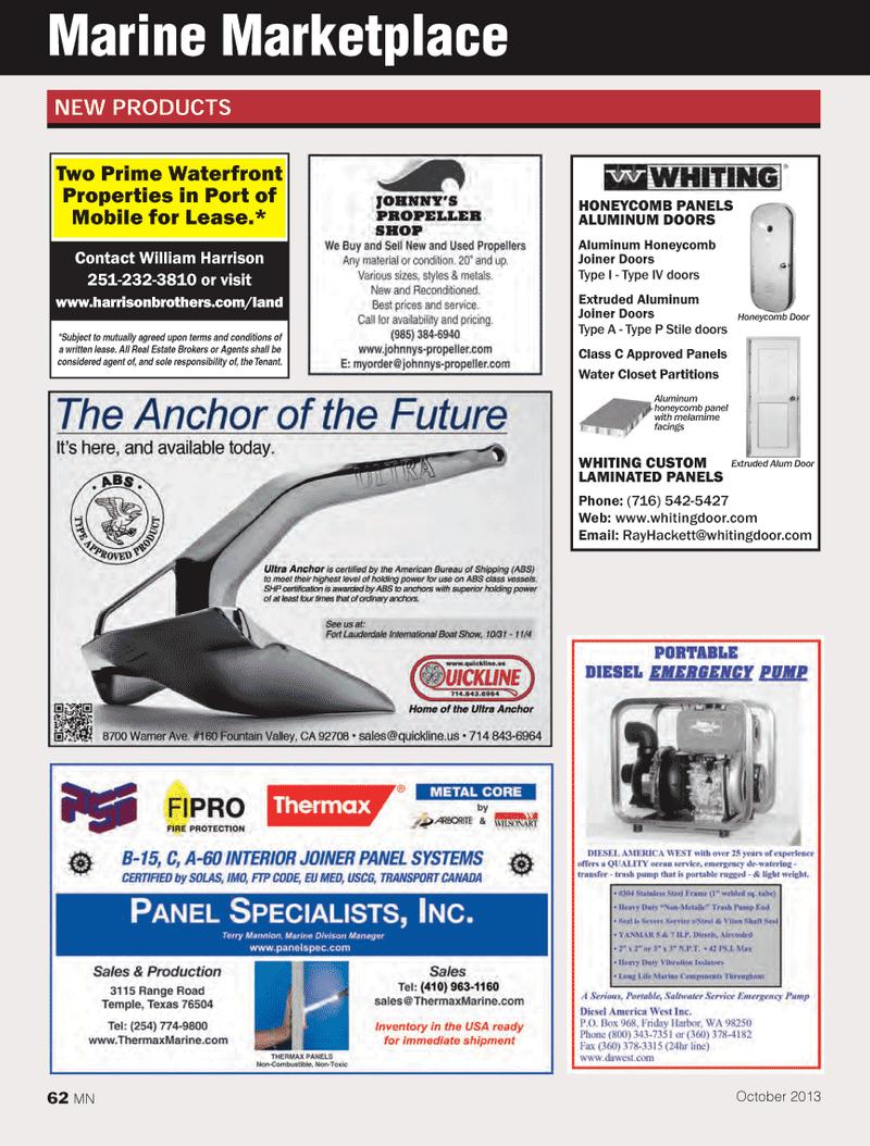 Marine News Magazine, page 62,  Oct 2013 Port of Mobile