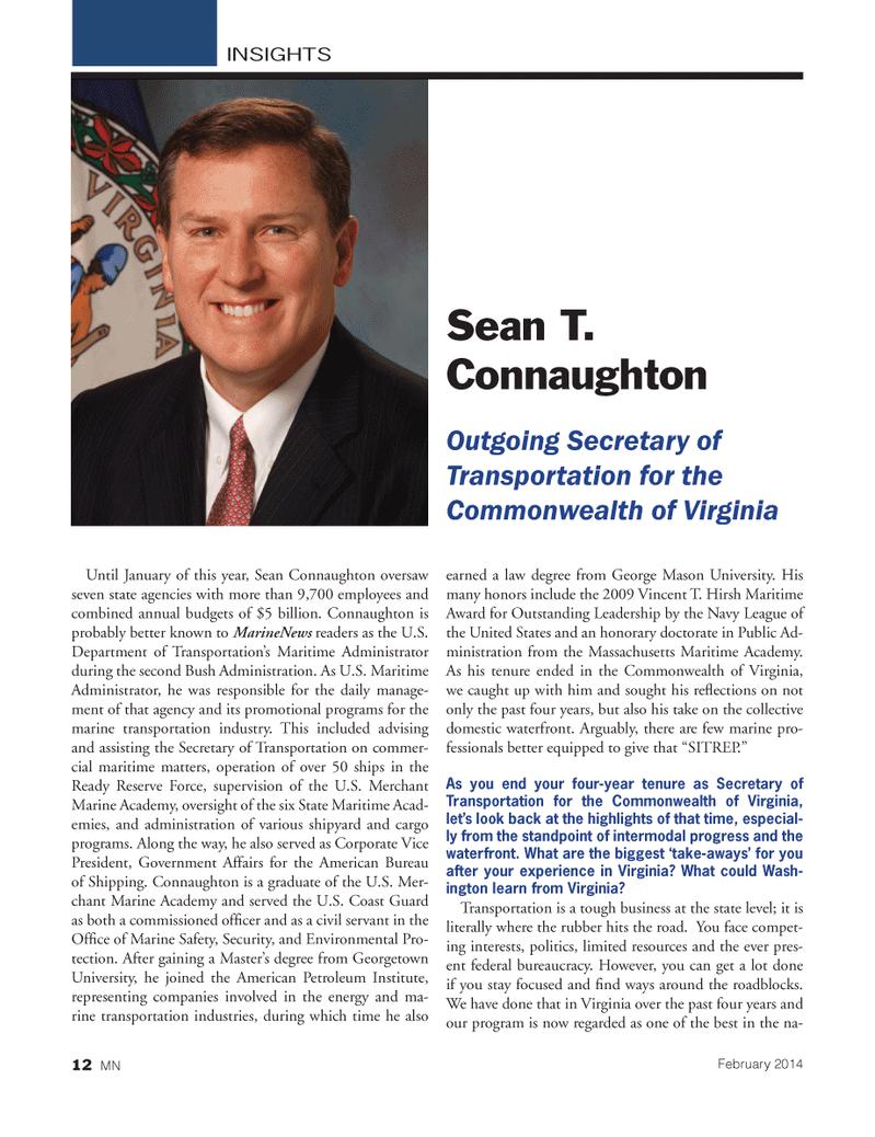 Marine News Magazine, page 12,  Feb 2014