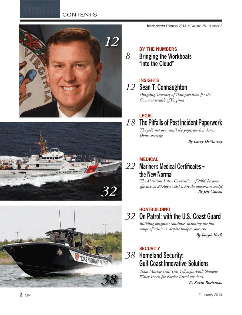 Marine News Magazine, page 2,  Feb 2014