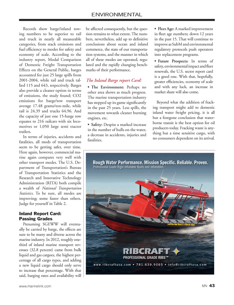 Marine News Magazine, page 43,  Feb 2014