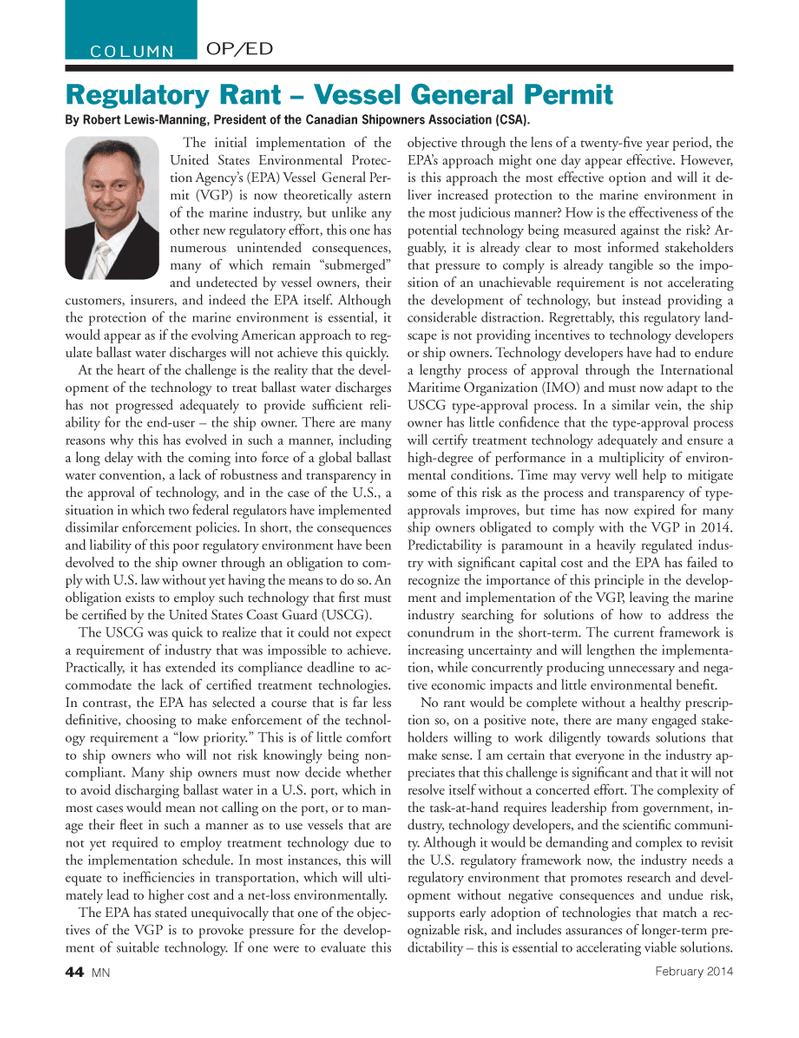 Marine News Magazine, page 44,  Feb 2014
