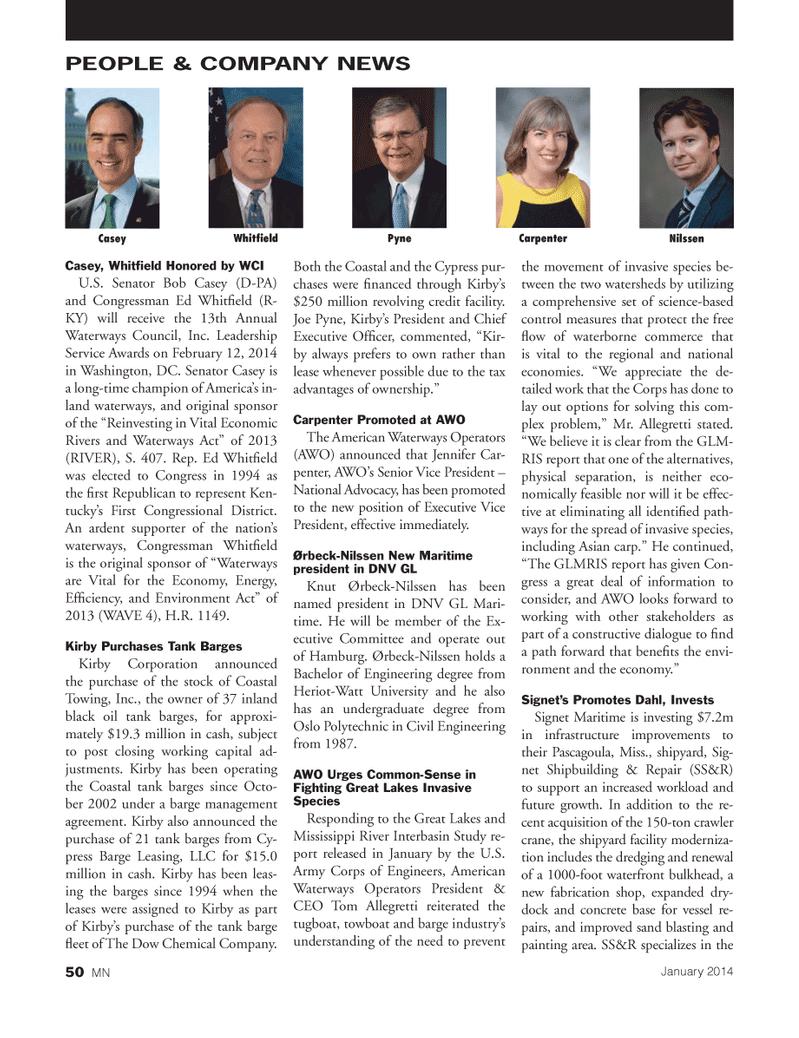 Marine News Magazine, page 50,  Feb 2014