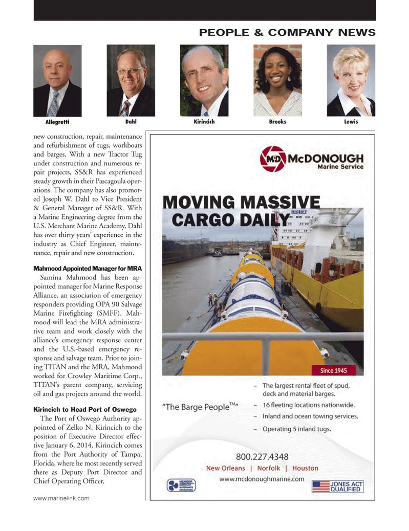 Marine News Magazine, page 51,  Feb 2014