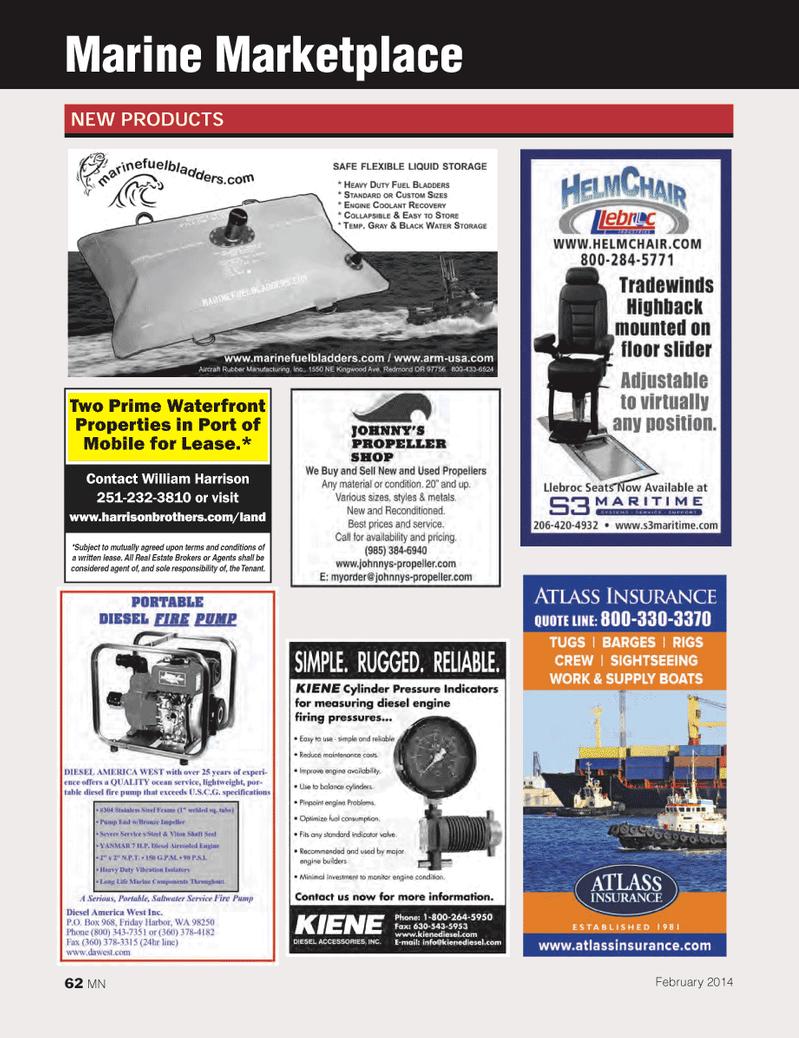 Marine News Magazine, page 62,  Feb 2014