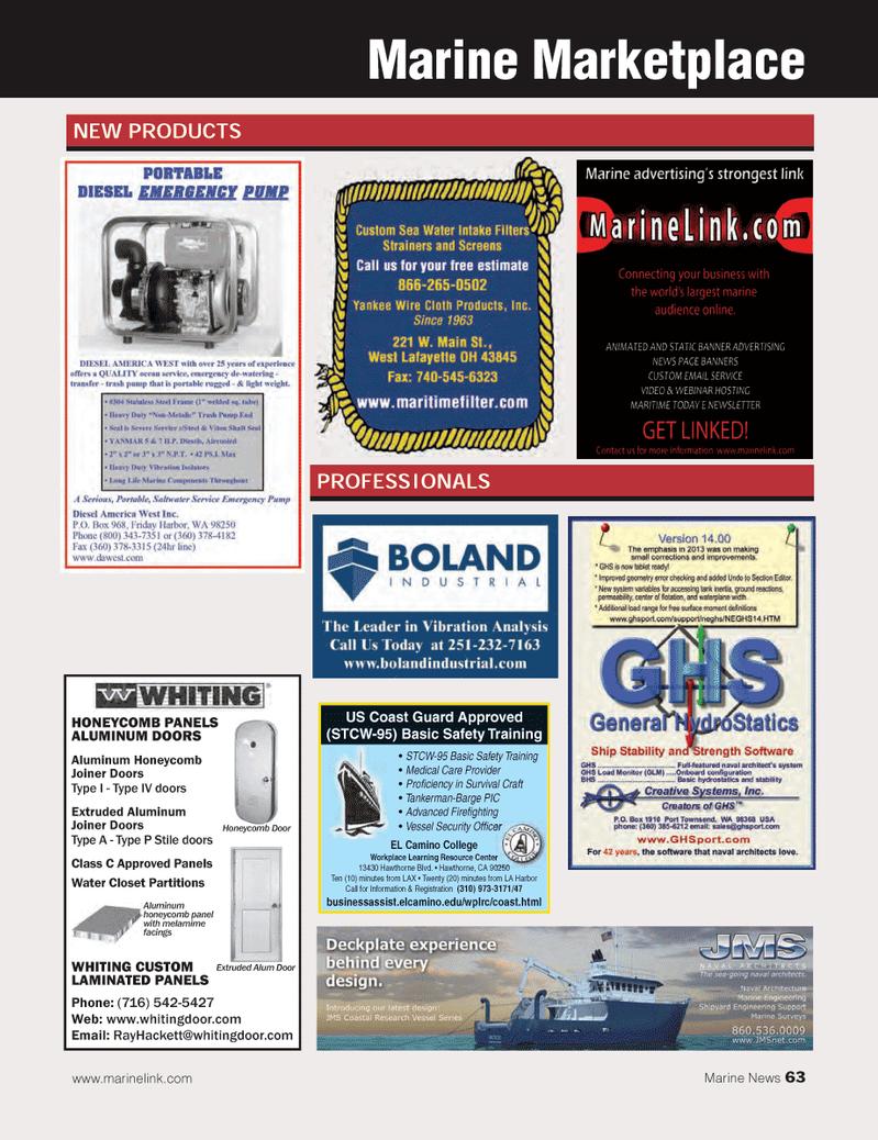 Marine News Magazine, page 63,  Feb 2014