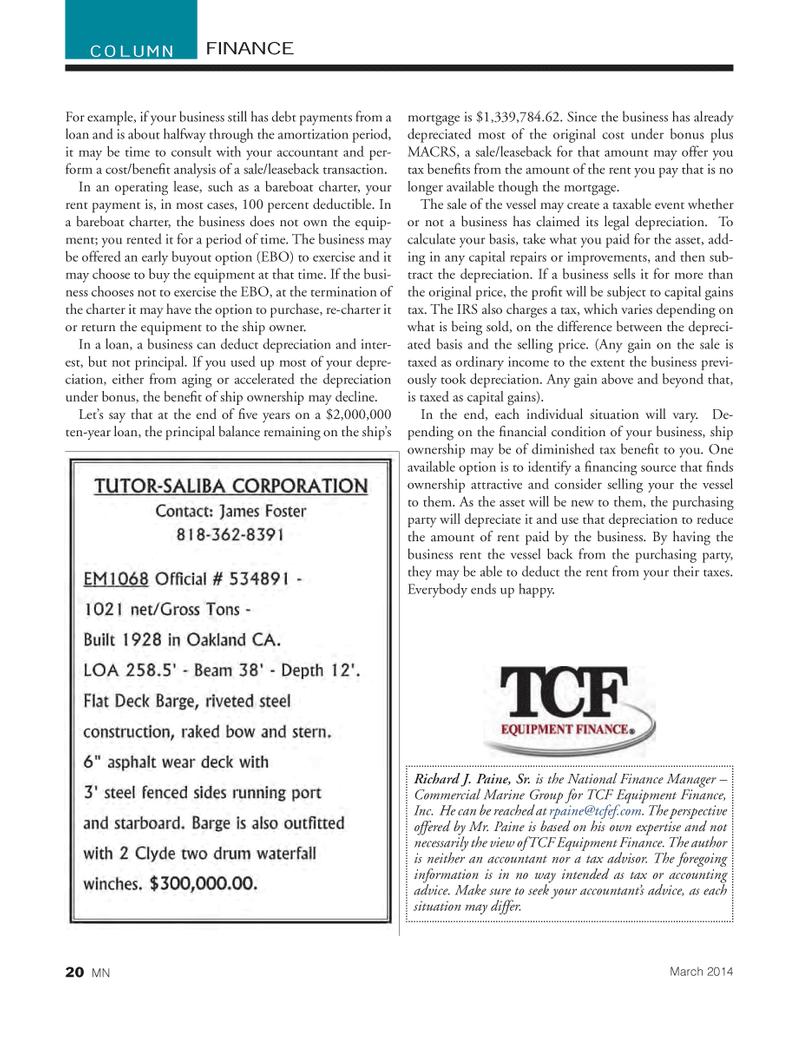 Marine News Magazine, page 20,  Mar 2014