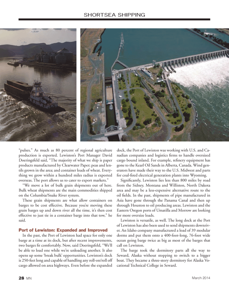 Marine News Magazine, page 28,  Mar 2014 Idaho