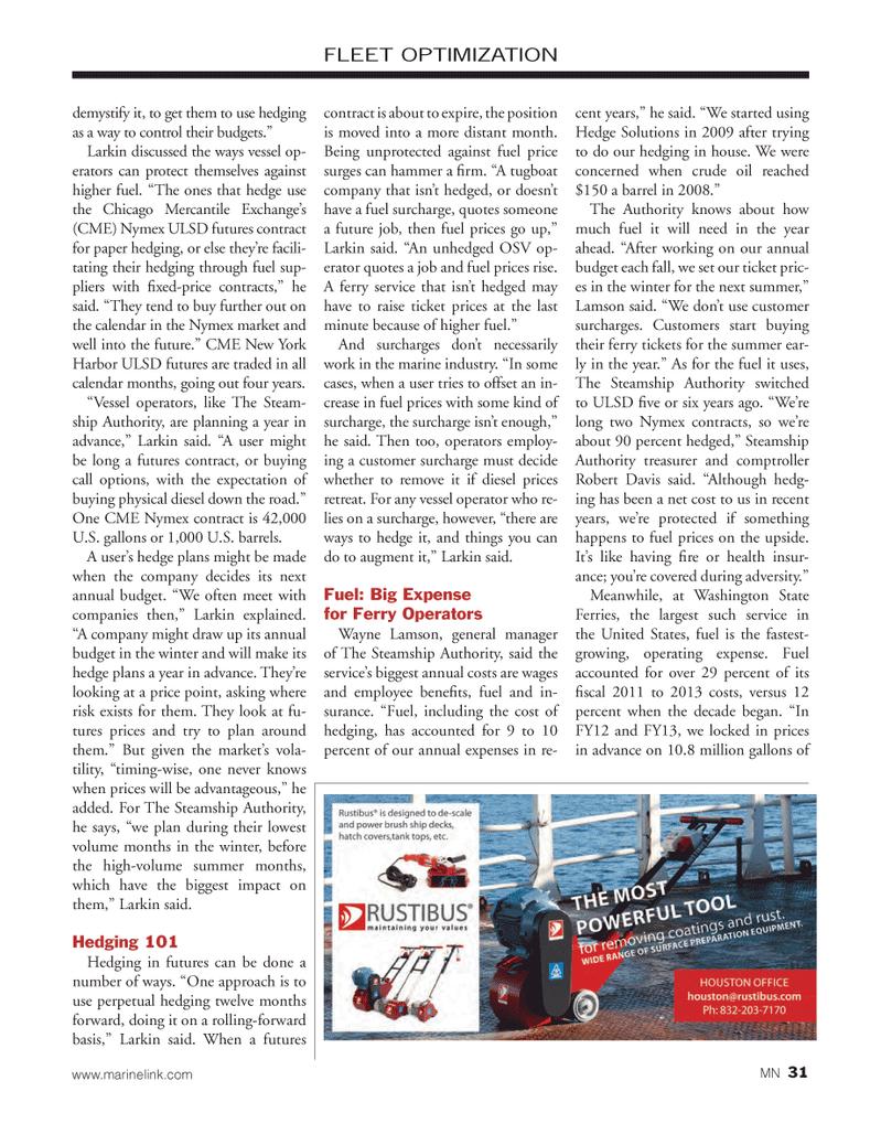 Marine News Magazine, page 31,  Mar 2014 crude oil
