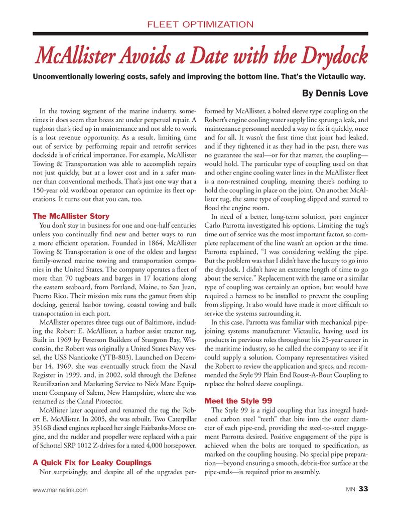 Marine News Magazine, page 33,  Mar 2014 Dennis Love