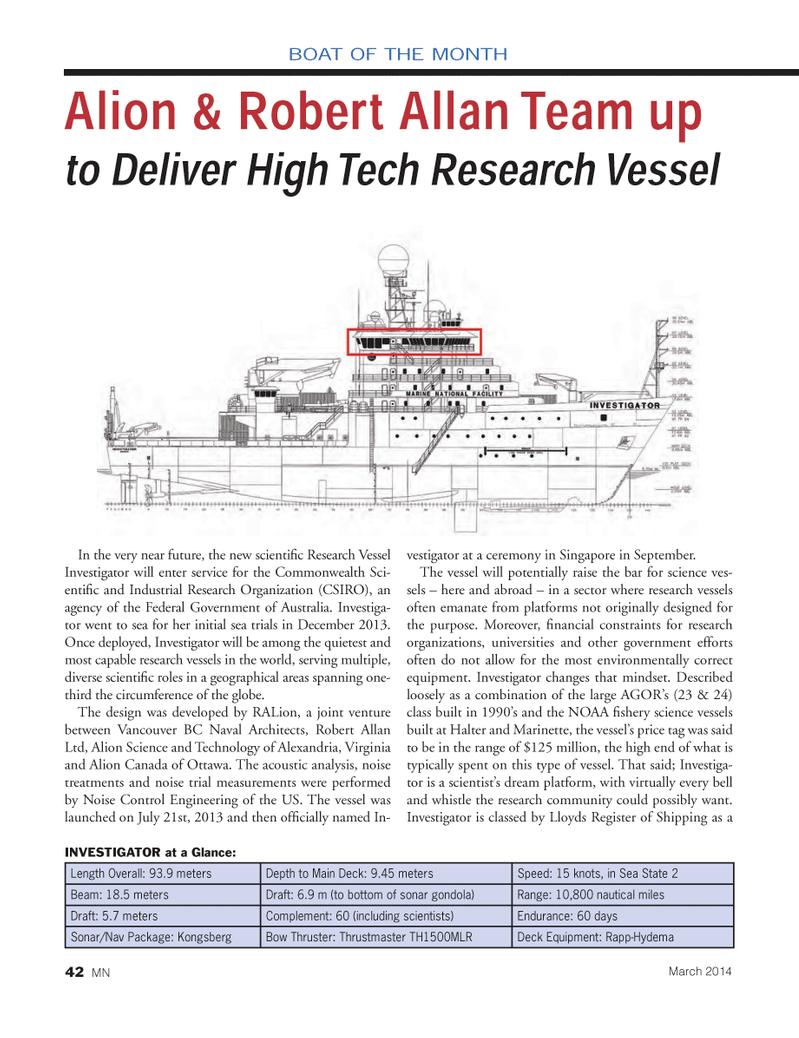Marine News Magazine, page 42,  Mar 2014 Bow Thruster