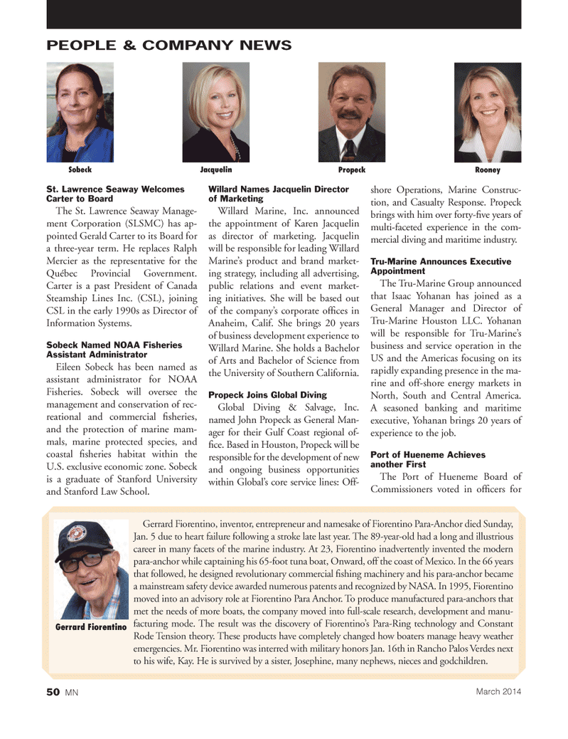 Marine News Magazine, page 50,  Mar 2014 Gulf coast