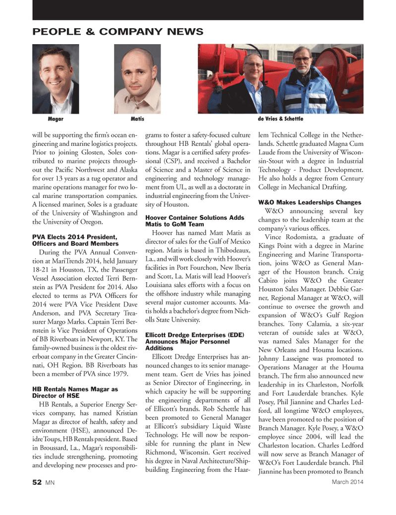 Marine News Magazine, page 52,  Mar 2014 Oregon