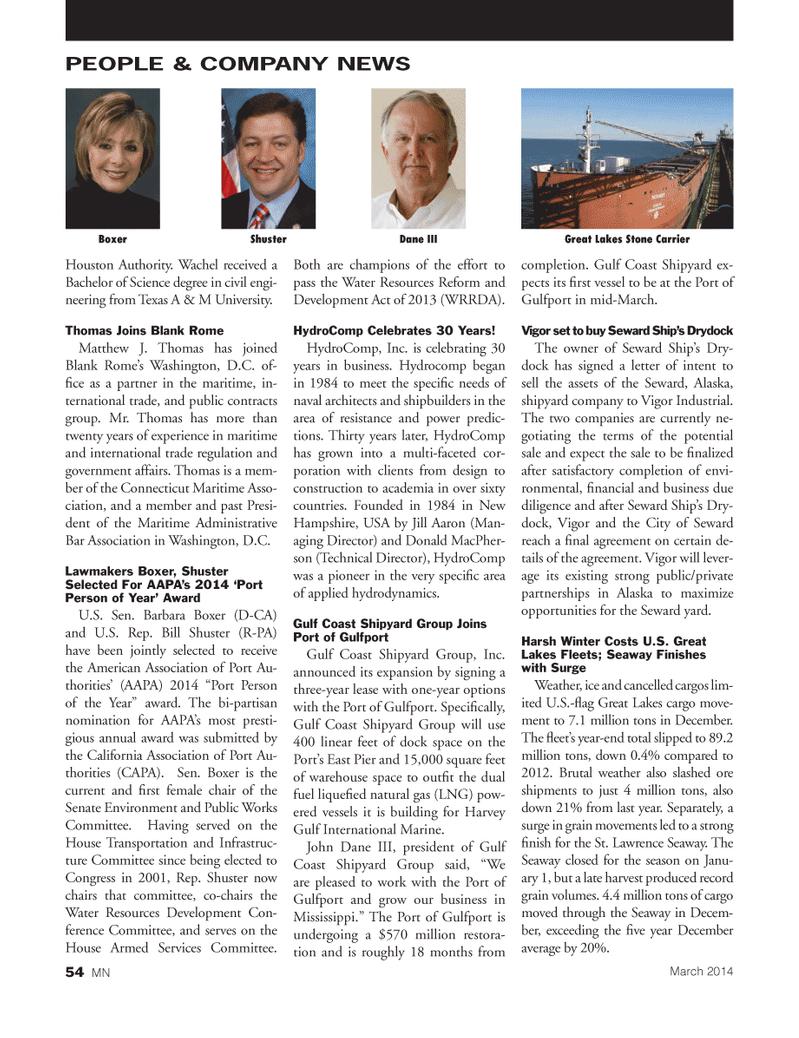 Marine News Magazine, page 54,  Mar 2014 Texas