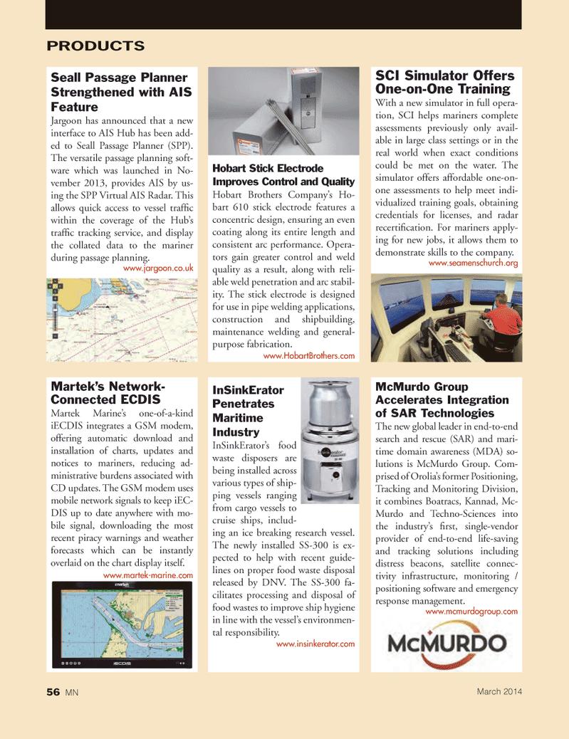 Marine News Magazine, page 56,  Mar 2014 proper food waste disposal