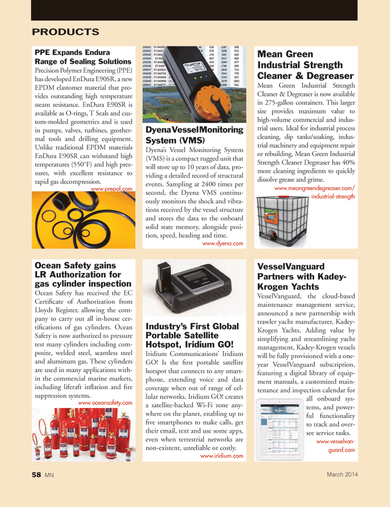 Marine News Magazine, page 58,  Mar 2014 gas cylinder inspection