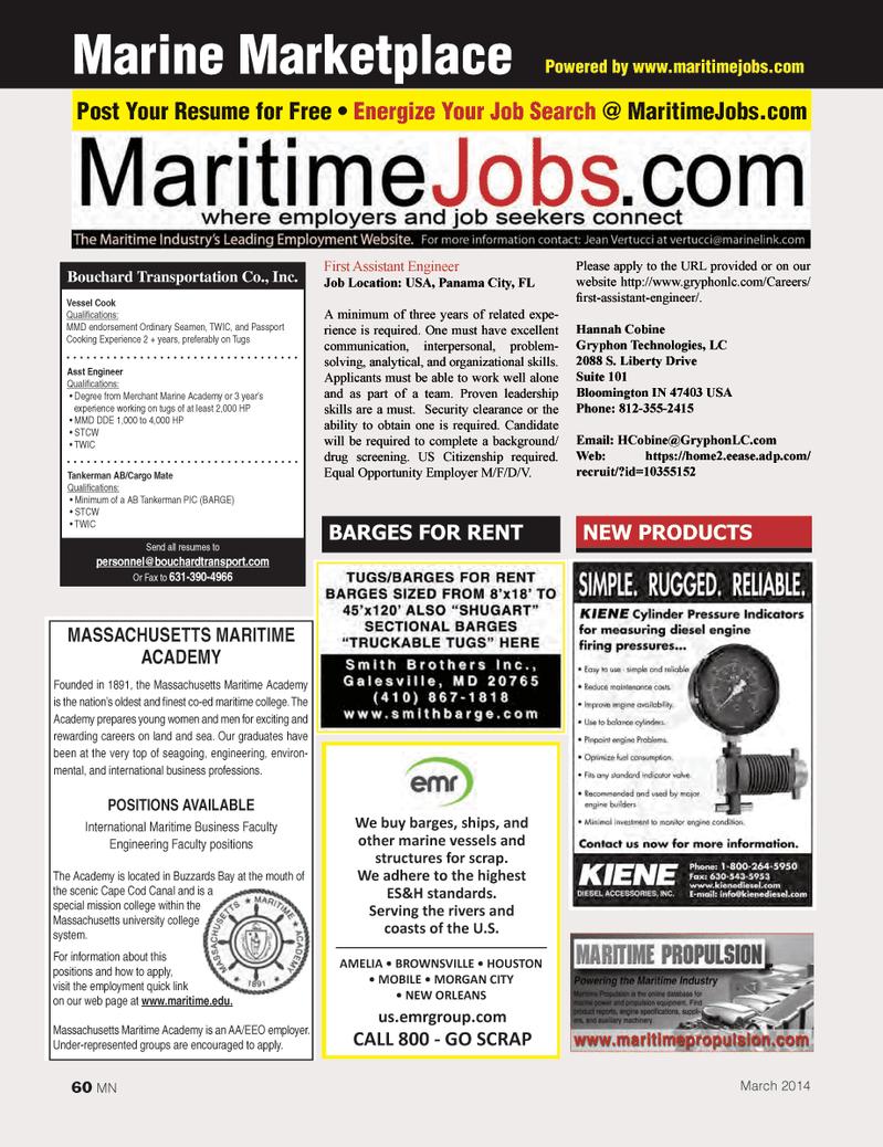 Marine News Magazine, page 60,  Mar 2014 Buzzards Bay