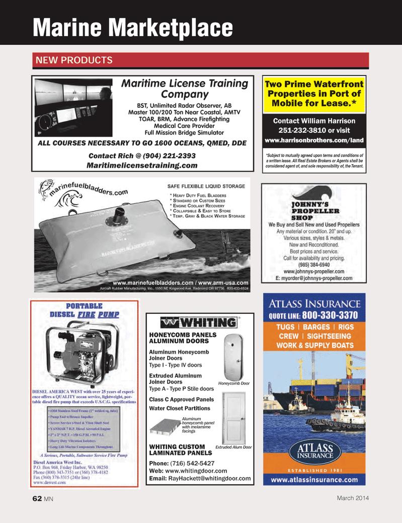 Marine News Magazine, page 62,  Mar 2014 Port of Mobile
