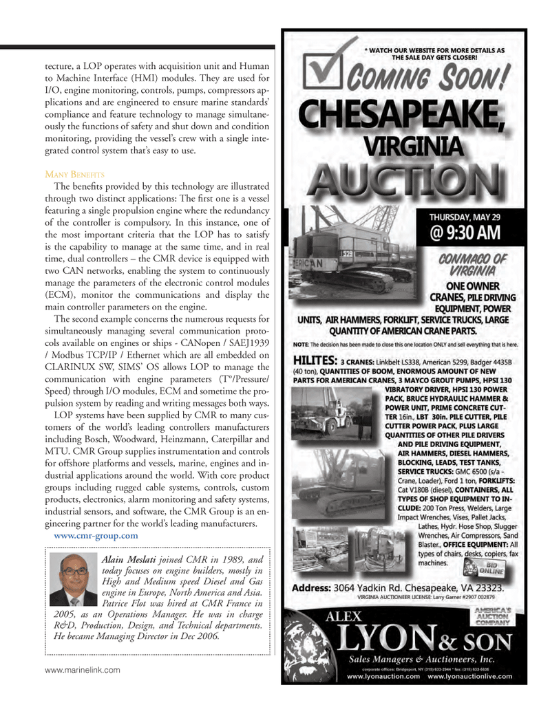 Marine News Magazine, page 49,  May 2014