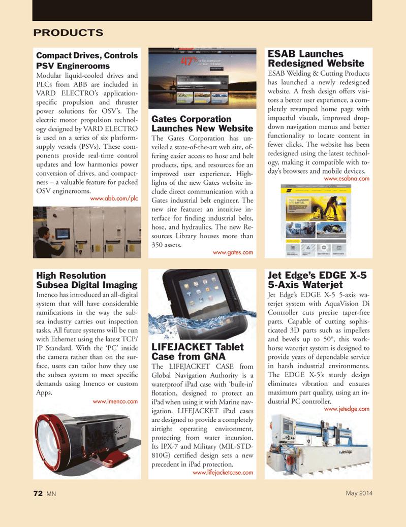 Marine News Magazine, page 72,  May 2014
