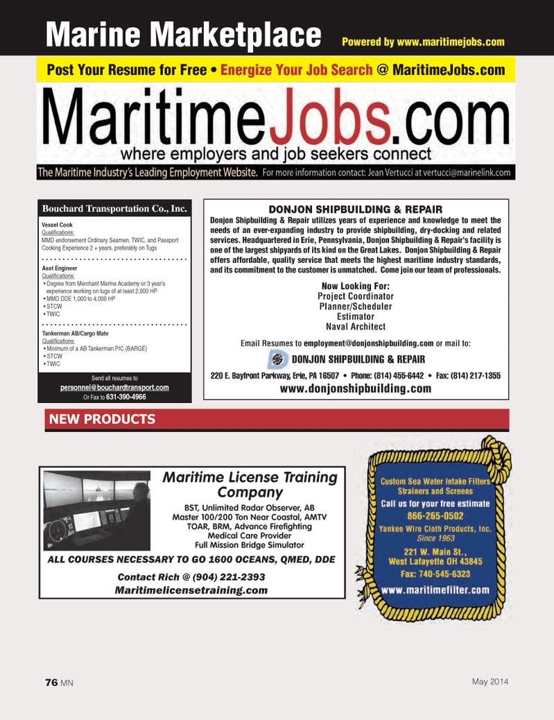 Marine News Magazine, page 76,  May 2014