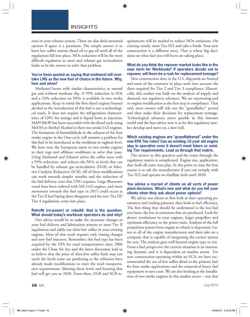 Marine News Magazine, page 16,  Jul 2014 marine diesel oil