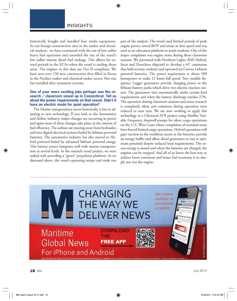 Marine News Magazine, page 18,  Jul 2014 West Coast