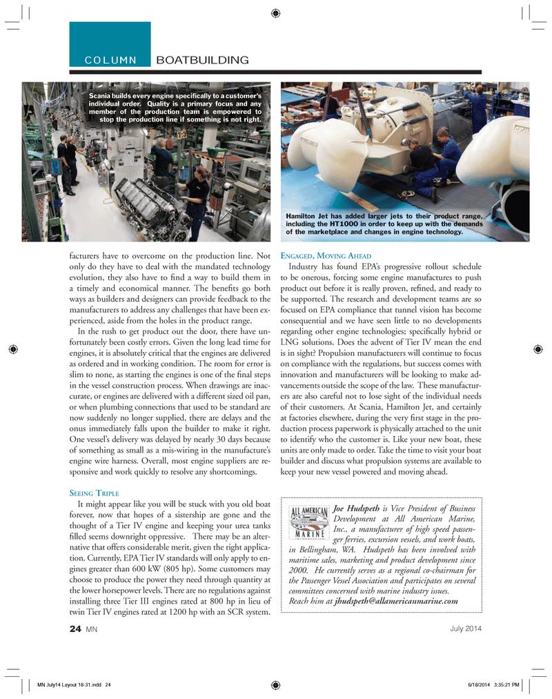 Marine News Magazine, page 24,  Jul 2014 Washington