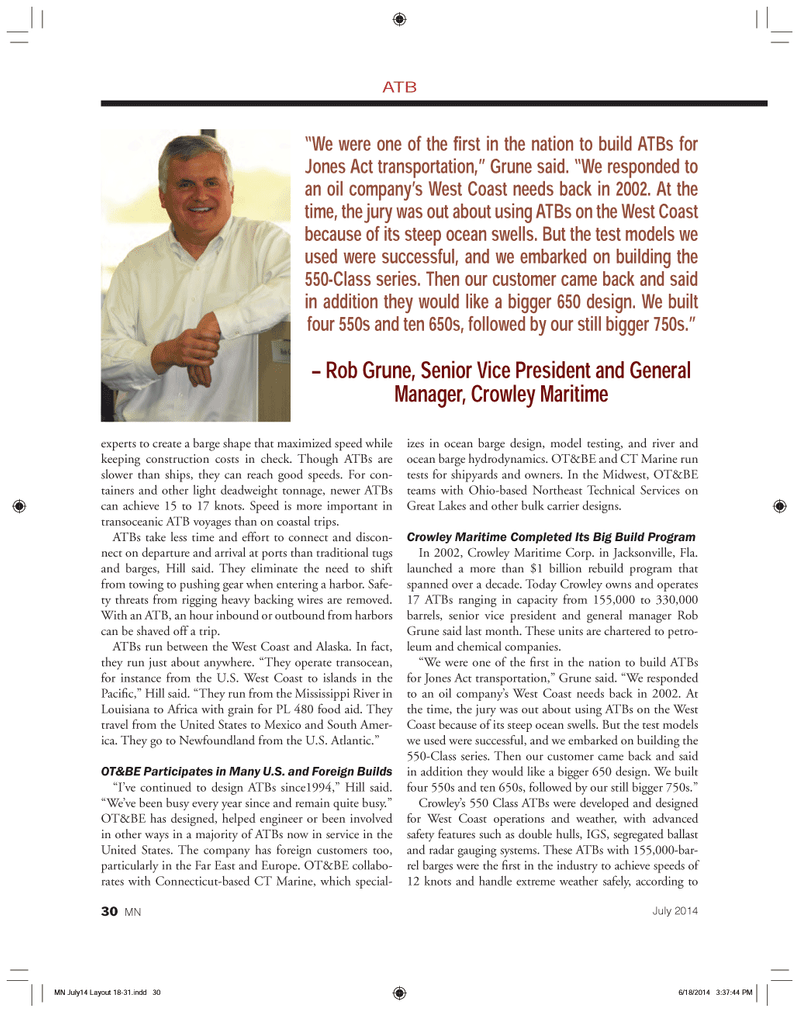Marine News Magazine, page 30,  Jul 2014 Connecticut