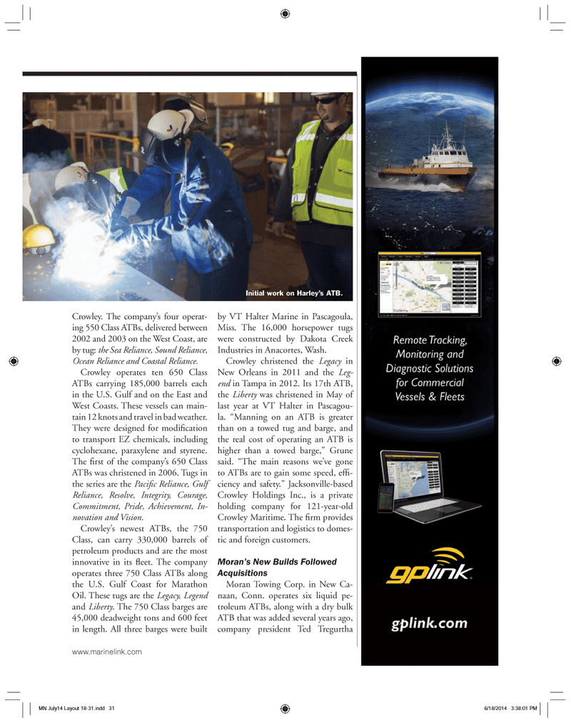 Marine News Magazine, page 31,  Jul 2014 Washington