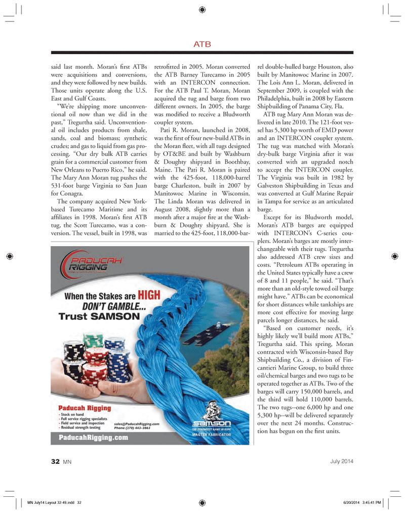 Marine News Magazine, page 32,  Jul 2014 Texas