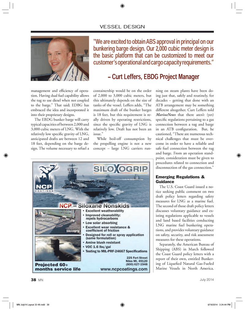 Marine News Magazine, page 38,  Jul 2014 North America