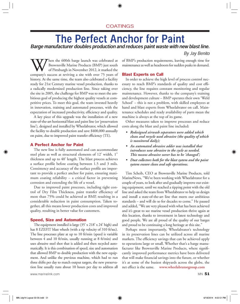 Marine News Magazine, page 51,  Jul 2014 Jay Benito