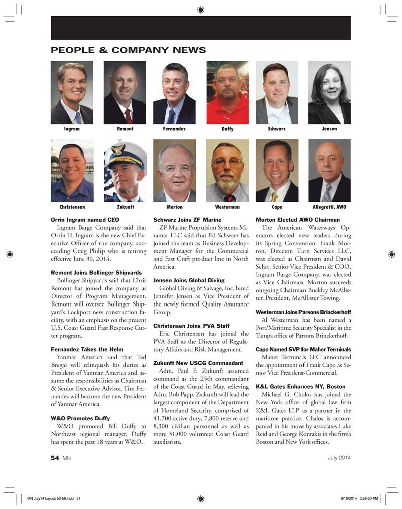 Marine News Magazine, page 54,  Jul 2014 Craig Philip
