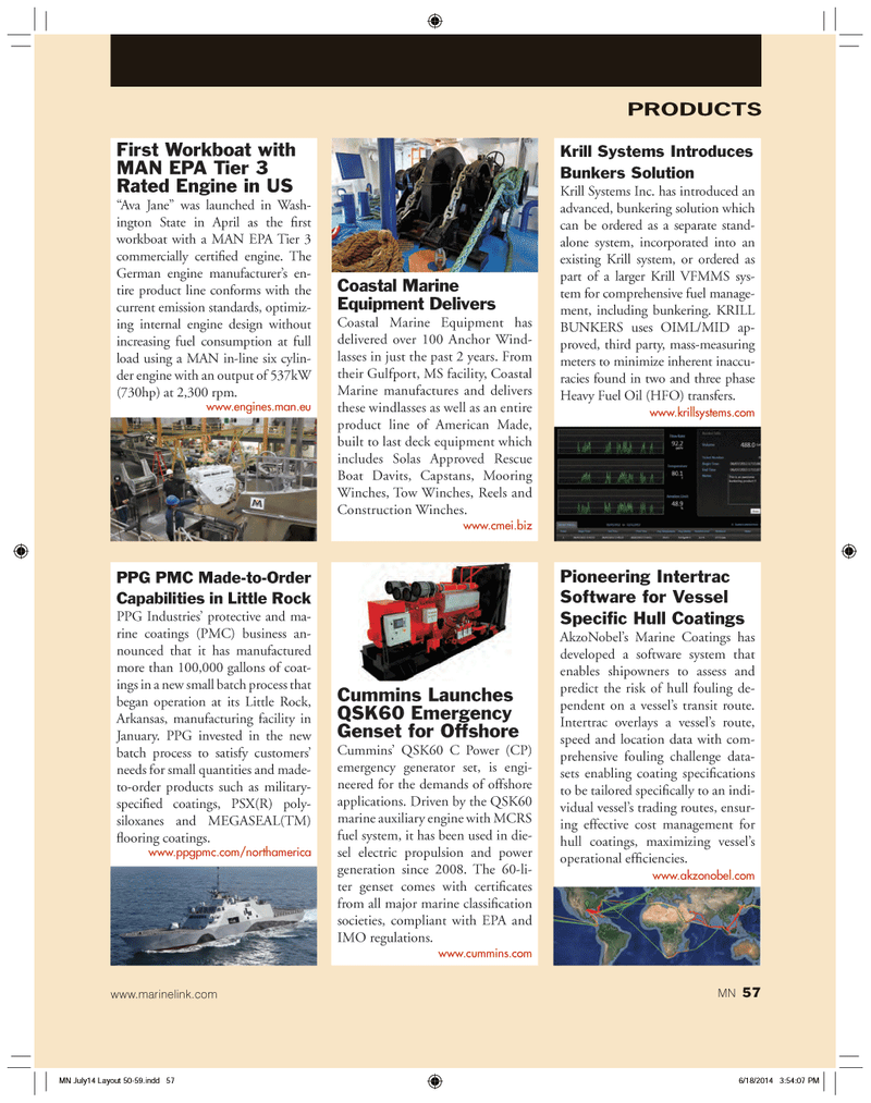 Marine News Magazine, page 57,  Jul 2014 Ava Jane