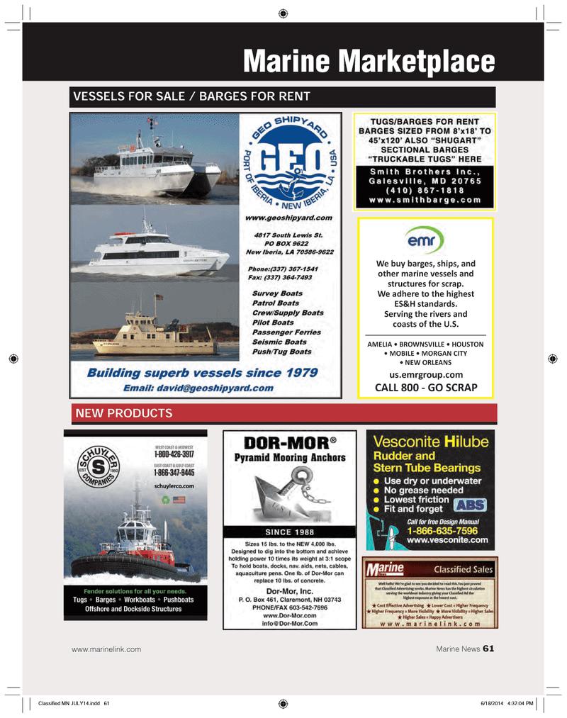 Marine News Magazine, page 61,  Jul 2014 United States