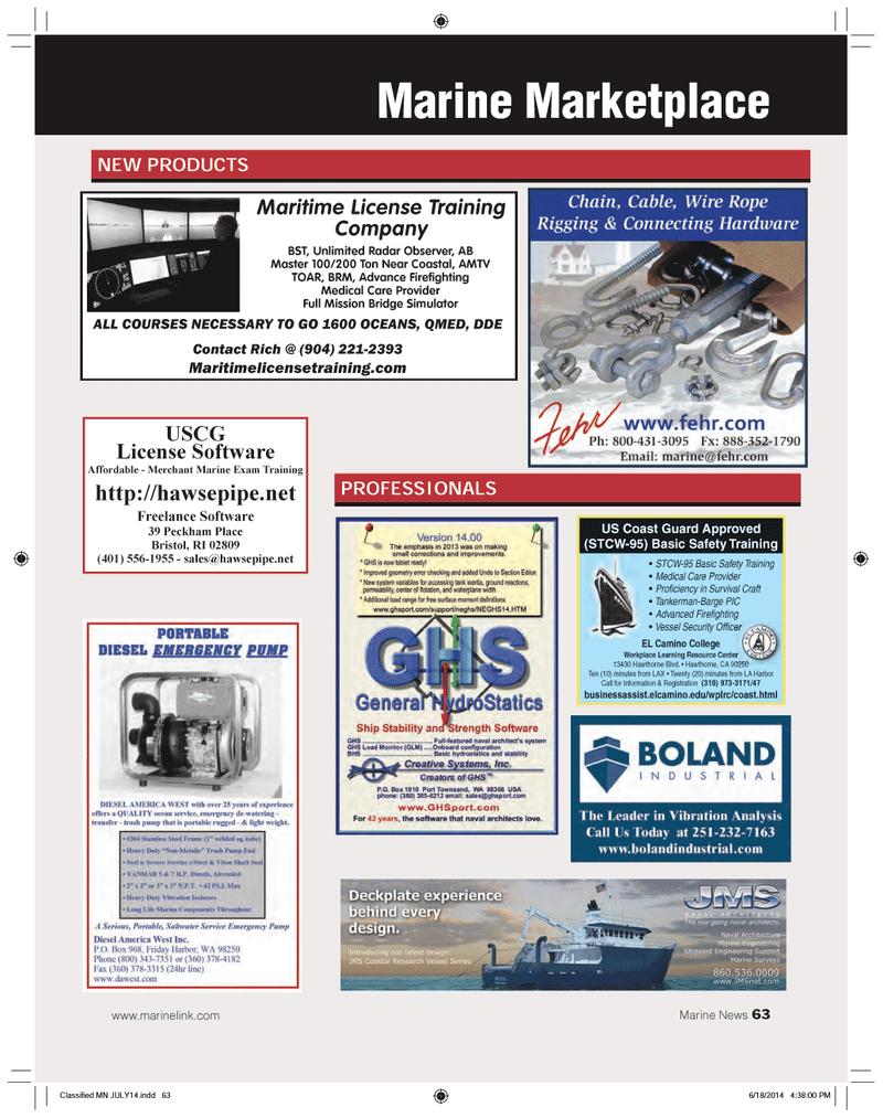 Marine News Magazine, page 63,  Jul 2014 Unlimited Radar Observer AB