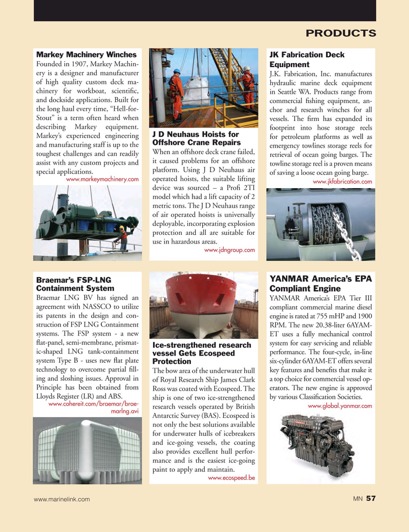 Marine News Magazine, page 57,  Jan 2015