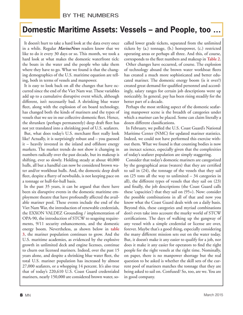 Marine News Magazine, page 8,  Mar 2015