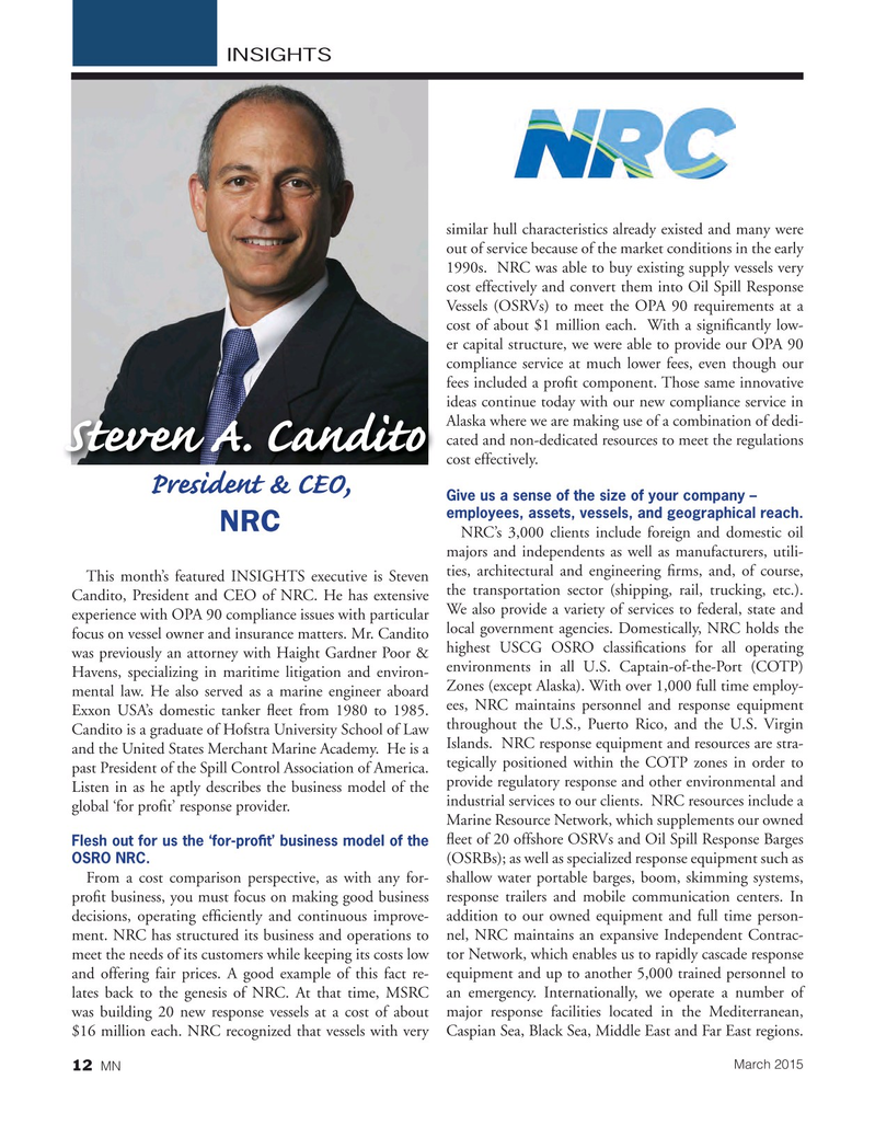 Marine News Magazine, page 12,  Mar 2015