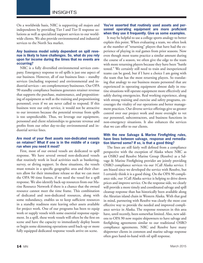 Marine News Magazine, page 14,  Mar 2015