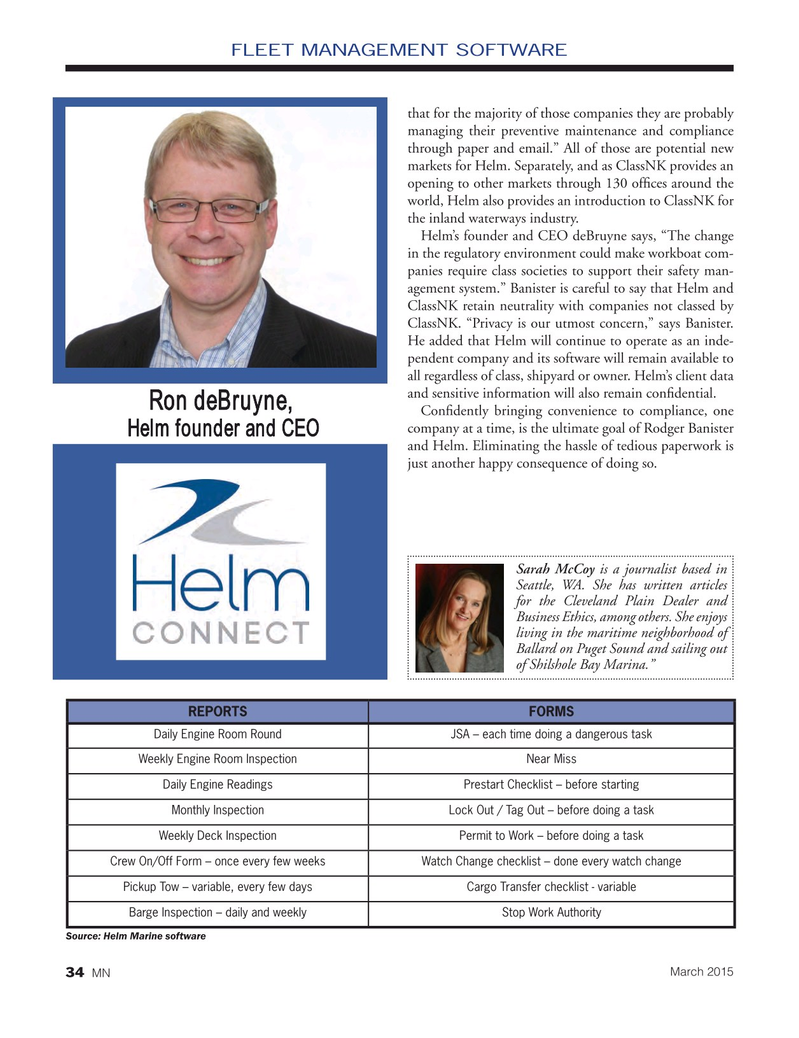 Marine News Magazine, page 34,  Mar 2015