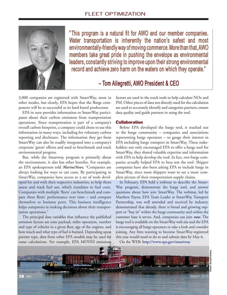 Marine News Magazine, page 38,  Mar 2015
