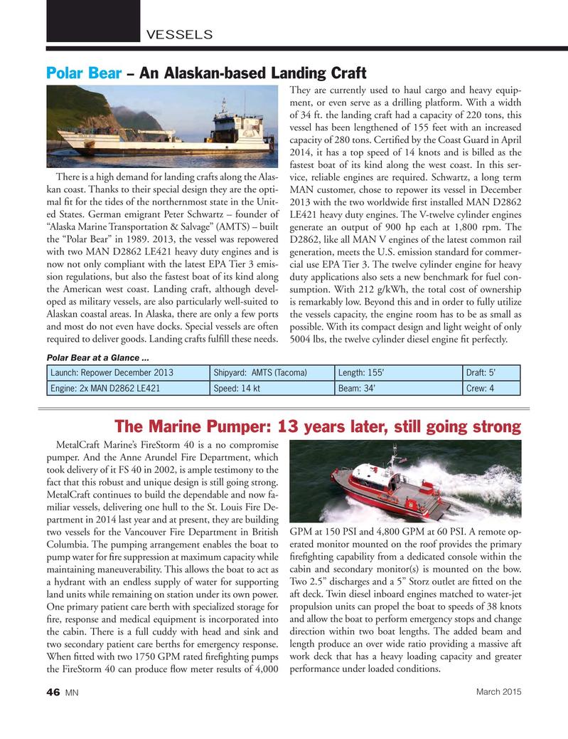 Marine News Magazine, page 46,  Mar 2015