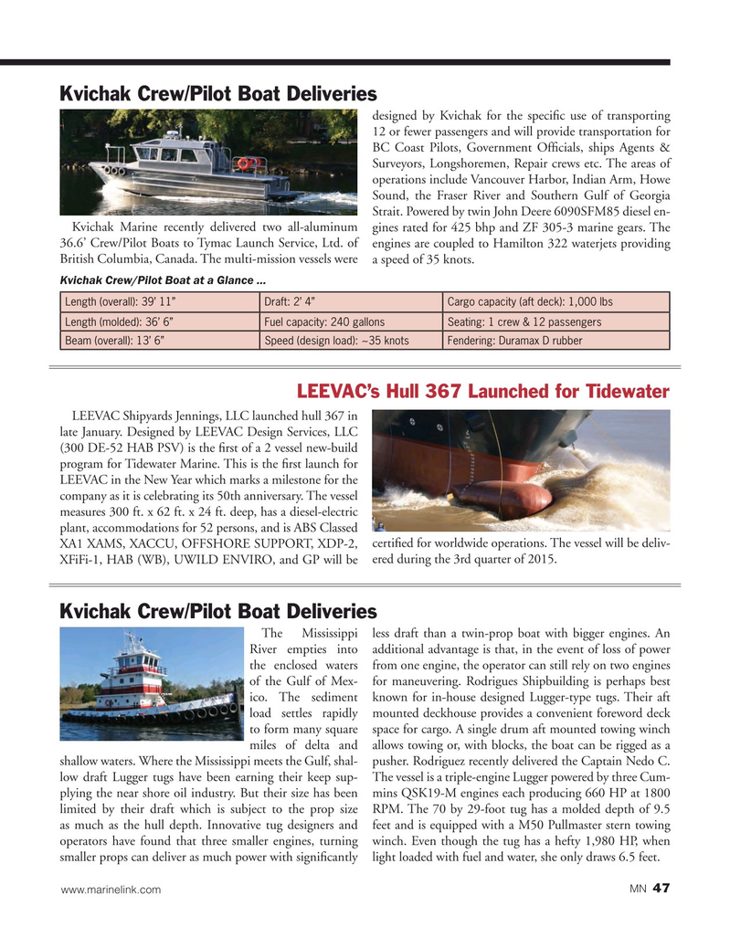 Marine News Magazine, page 47,  Mar 2015