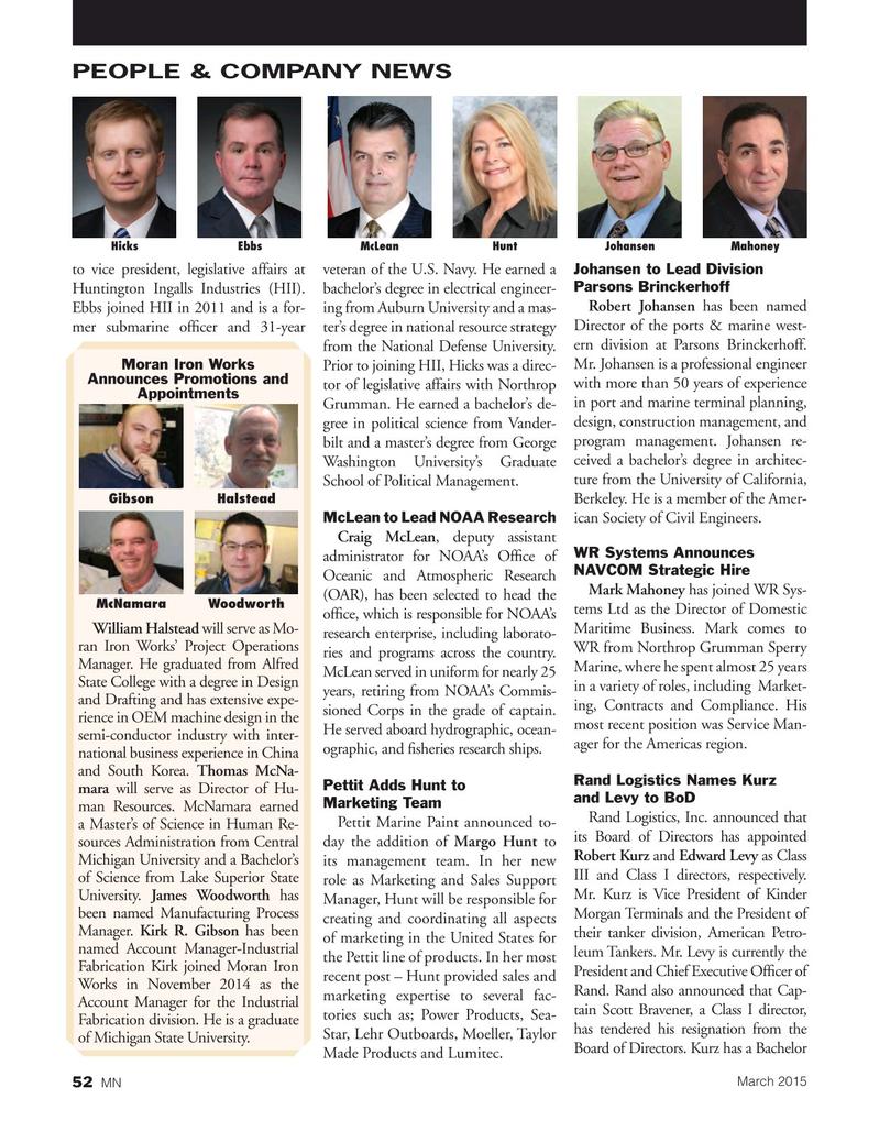 Marine News Magazine, page 52,  Mar 2015